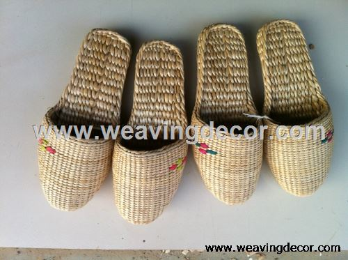 Wholesale Handmade straw slipper mat slipper for summer
