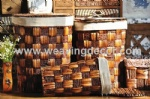 Straw laundry hamper from factory