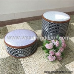 woven stool storage stool storage boxes & bins