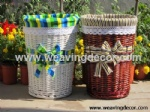 white wicker laundry basket for wholesale