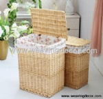natural wicker laundry basket for wholesale