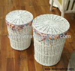 white wicker laundry hamper for wholesale