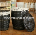 wicker laundry hamper for wholesale